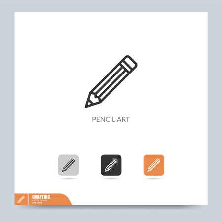 modern crafting icon symbol logo illustration. Graphic vector design element. Design Template Vettoriali