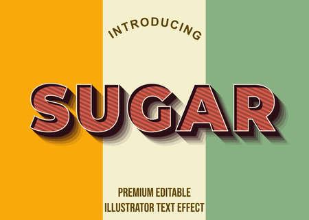 Editable text style effect. Typography illustration template. Graphic design element. Vektorové ilustrace