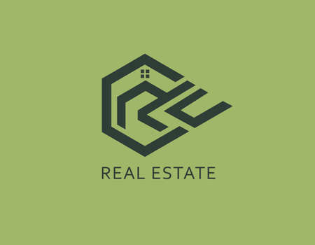 Creative real estate logo illustration. Graphic design element. Illusztráció