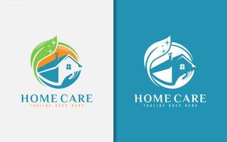 Home Care Cleaning Logo Design. Graphic Design Element. Logó