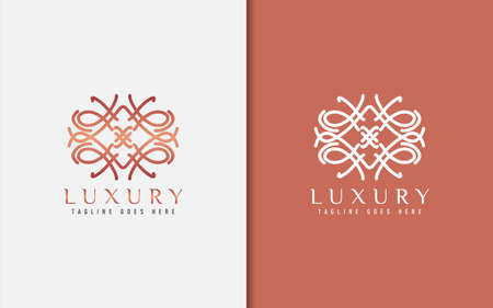 Luxury Logo Design. Elegant Symbol with Geometric Modern Lines Combination. Usable For Business, Community, Foundation, Services, Company. Vector Logo Design Illustration. Graphic Design Element Logos