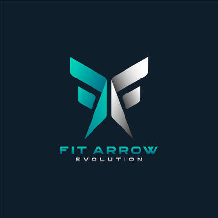 initial Letter F and Arrow Shape Concept Logo Design. Usable for Business Brand and Sport Company Logo Design. Graphic Design Element.