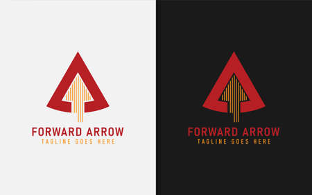 Abstract Triangle Combined with Forward Arrow Silhouette Inside Logo Design. Graphic Design Element.