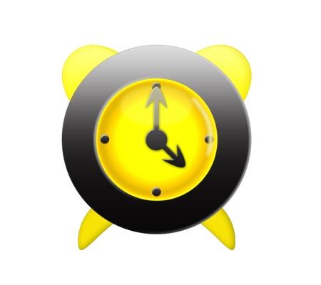 timekeeping: Digitally made alarm clock isolated on white background