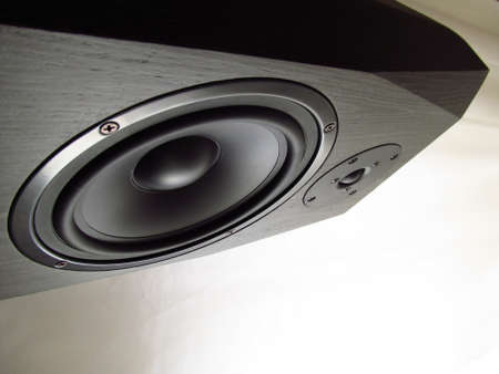 2 way: 2 way hifi audio speaker front Stock Photo