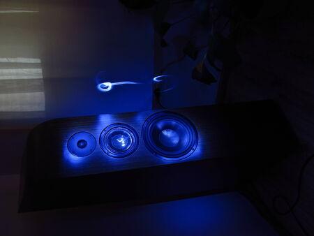 membranes: Audio speakers standing in room