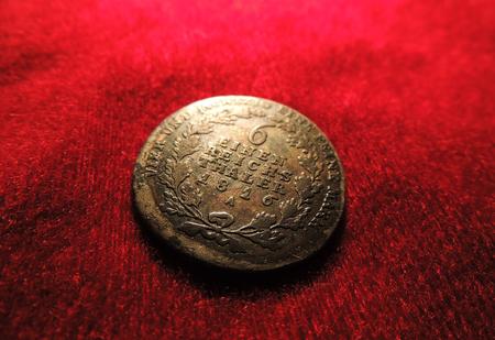 thaler: 6 Einen Reichs Thaler 1816A with some patina