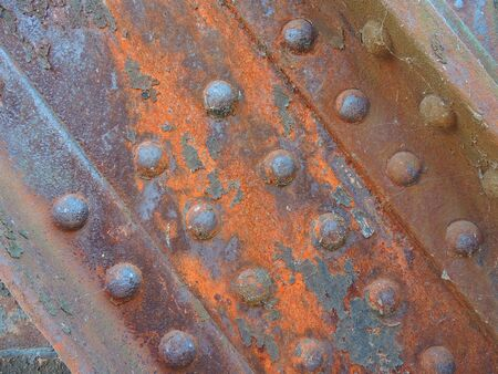 rivets: Corroded rivets of an old railway bridge