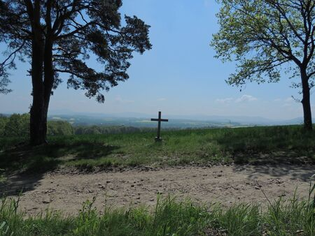 devout: View from the way of the cross Stock Photo