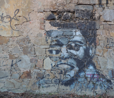 Old Graffiti Reminding Of A Boxing Legend Muhammad Ali