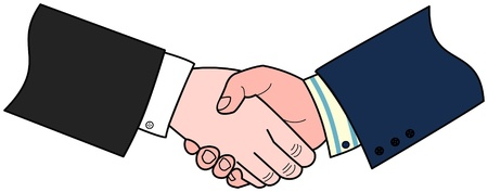 handshaking: A business deal agreed