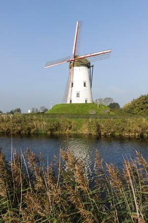 White windmill photo