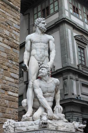 Hercules and caus scuelture in piazza della signoria italy