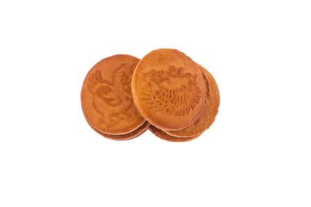 Isolated stack of gingerbread cookies photo