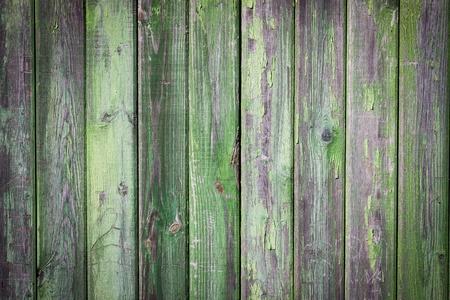 Grunge green painted wooden plank  Reklamní fotografie