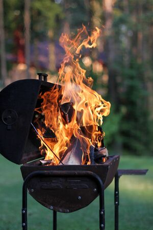 Outdoor barbecue grill photo
