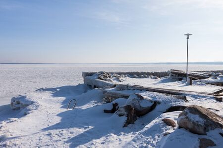 Winter sea landscape photo