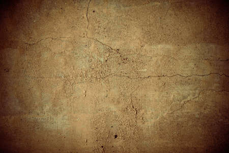 Cracked brown vignette concrete wall texture photo