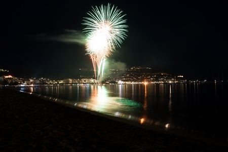 The Night of San Juan with fireworks in Spain Stock Photo - 14230913