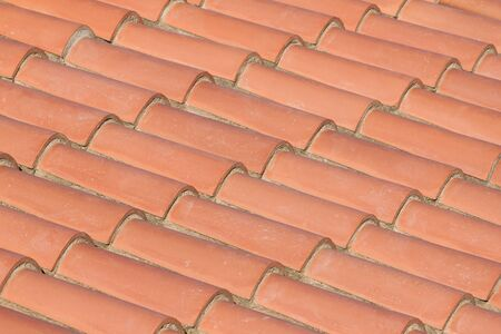 Red roof tiles in line Stock Photo - 14230288