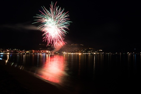 The Night of San Juan with fireworks in Spain Stock Photo - 14230260