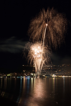 The Night of San Juan with fireworks in Spain Stock Photo - 14230281