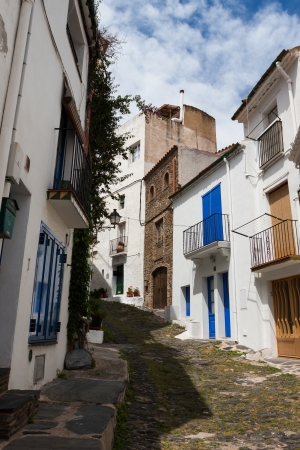 A street of Cadaques in the province of Girona, Catalonia, Spain photo