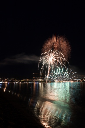The Night of San Juan with fireworks in Spain Stock Photo - 14294081
