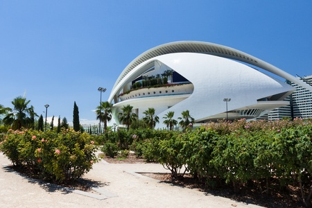 Park in Valencia Hemispheric - City of Arts and Science, Spain