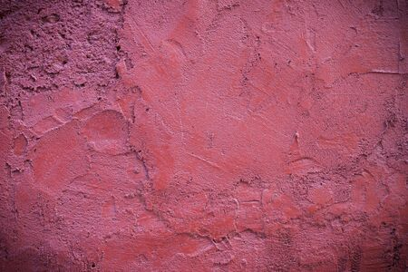 Dark edged pink plaster concrete texture background wall Stock Photo - 14294133