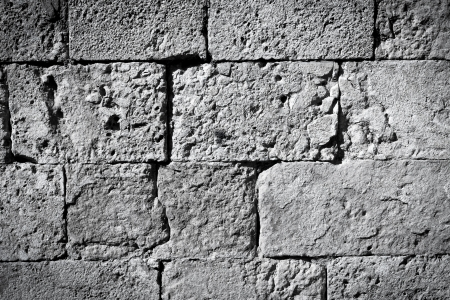 Cool vintage black and white brick wall texture background photo