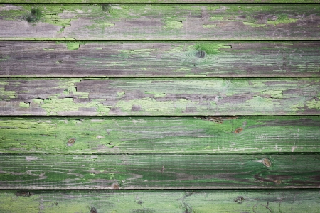 wood stain: Green old painted wooden background Stock Photo