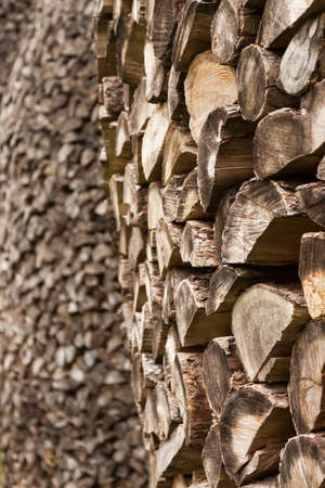 Stacked Logs, natural background image photo