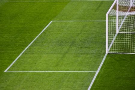 soccer wm: Football green field Stock Photo