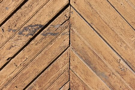 Weathered painted pattern wooden wall background photo