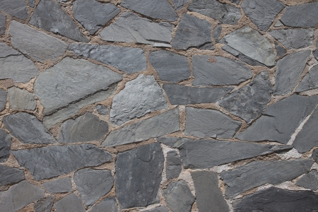 Granite flagstone pavement wall background Banco de Imagens