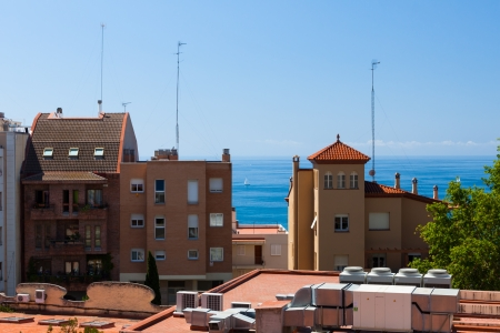 View on the sea in Tarragona town, Spain photo