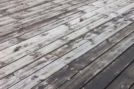 Aged wooden terrace floor background photo