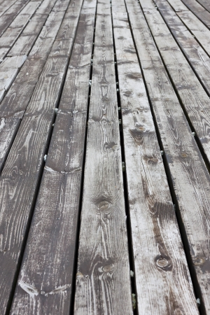 Aged gray wooden terrace floor background photo