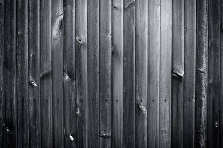 Black old gray wooden plank wall Stock Photo - 15255299