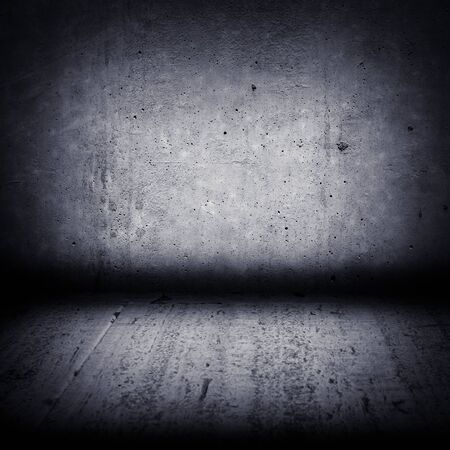 paint wall: Image of dark concrete wall and floor Stock Photo