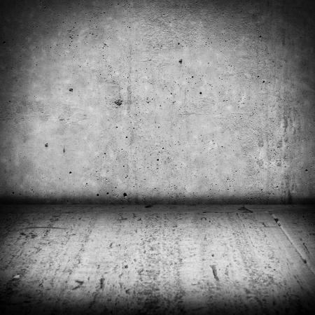 Image of dark concrete wall and cement floor photo