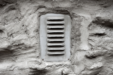 metal ventilation window on wall background Stock Photo - 16032784