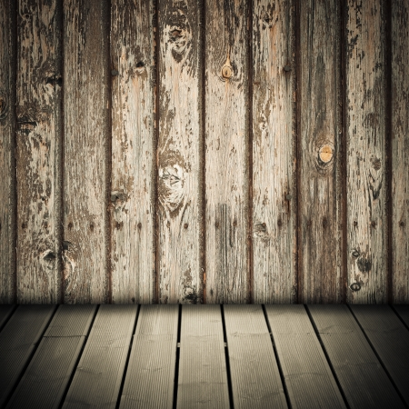 image of a nice wooden floor and wall background Stock Photo - 16126580