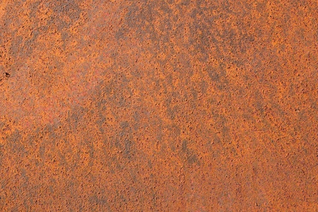 oxidized: Old rusty iron metal background plate texture