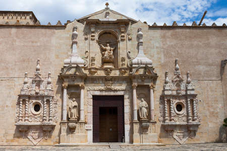 Real Monasterio de Santa Maria de Poblet  doorway, Spain photo