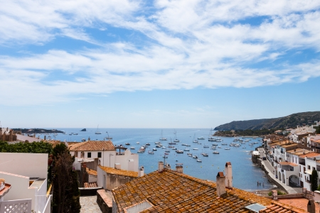 Aerial view from above of Cadaques bay, Costa Brava, Spain Stock Photo - 17032081
