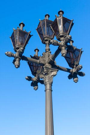 Vintage Lamp Post Street Road Light Stock Photo - 17286066