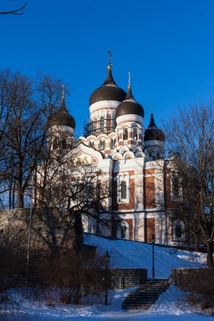 Alexander Nevsky Cathedral winter view - Tallinn, Estonia Stock Photo - 17380918