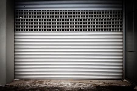 Building with metal roller shutter door Stock Photo - 17541340